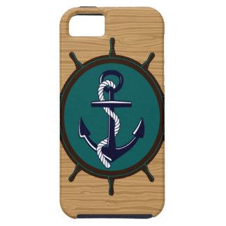 Nautical Anchor Ships Wheel Helm Sailor Design iPhone SE/5/5s Case