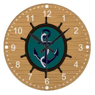 Helm Design ships helm wall clocks zazzle