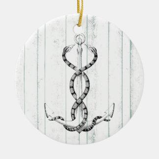 Nautical Anchor snakes Ceramic Ornament