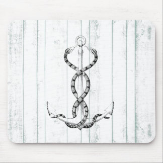 Nautical Anchor snakes Mouse Pad