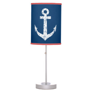 Nautical anchor table lamp   Distressed look