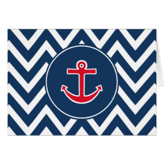 Nautical Anchor Thank You Card
