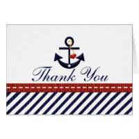 Nautical Anchor Thank You Notes Cards