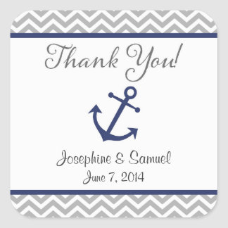 Nautical Anchor Thank You Stickers