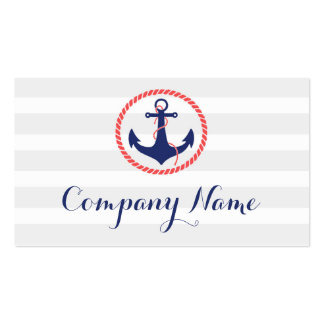 Nautical Anchor Travel Business Cards