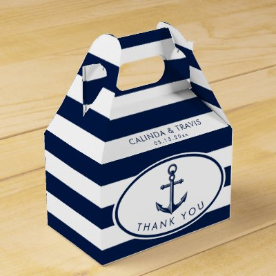Nautical Anchor Wedding Favor Box