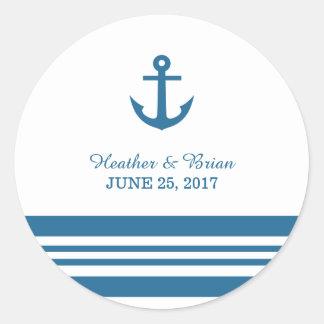 Nautical Anchor Wedding Stickers