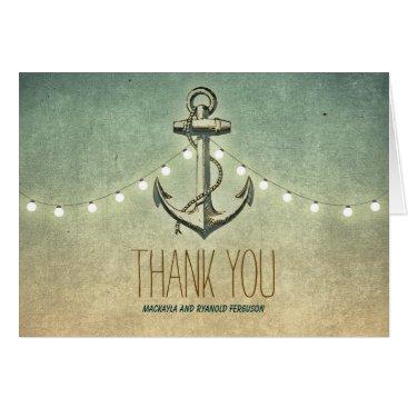 jinaiji Nautical Anchor Wedding Thank You Card