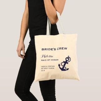 Nautical Anchor Wedding Tote Bag