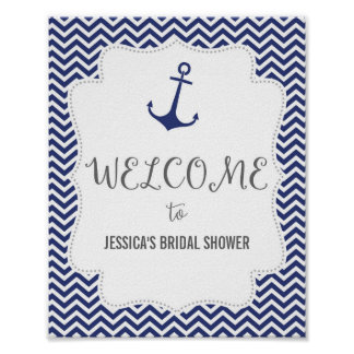 Nautical Anchor Welcome Poster Print