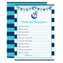 Nautical Anchor Wishes for Baby Card