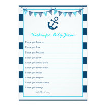 Nautical Anchor Wishes for Baby Cards
