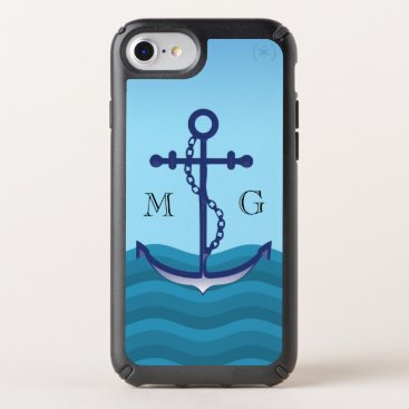 Nautical Anchor with Double Monogram Speck iPhone Case
