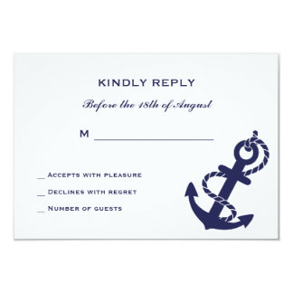 Nautical Anchor with Rope Wedding Invitation