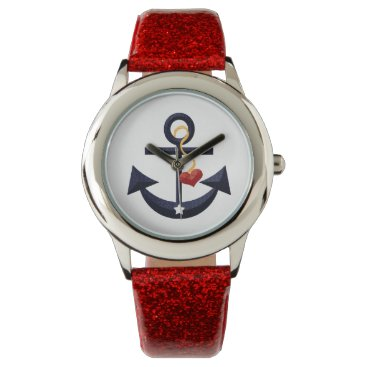 Beach Themed Nautical Anchor Wristwatch
