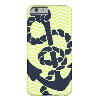 Nautical Anchor Yellow Chevron iPhone 6 case