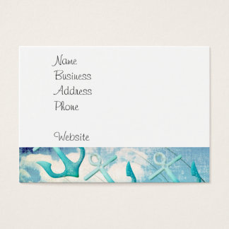 Nautical Anchors Beach Ocean Seaside Coastal Theme Business Card