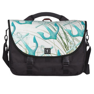 Nautical Anchors Beach Ocean Seaside Coastal Theme Bag For Laptop