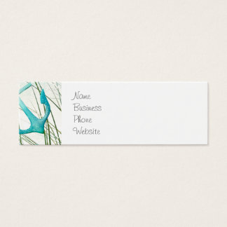 Nautical Anchors Beach Ocean Seaside Coastal Theme Mini Business Card