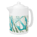 Nautical Anchors Beach Ocean Seaside Coastal Theme Teapot