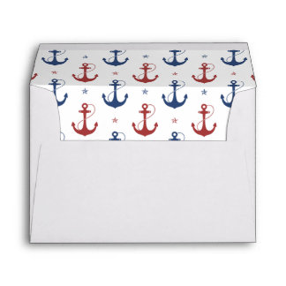 Nautical Anchors Envelope