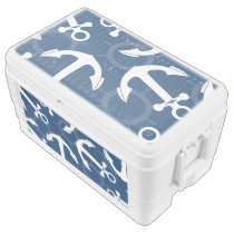 Nautical Anchors Pattern Ice Chest