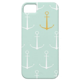 Nautical anchors preppy girly blue anchor pattern iPhone 5 covers