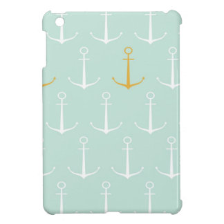 Nautical anchors preppy girly blue anchor pattern case for the iPad mini