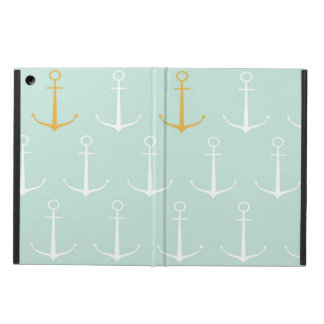 Nautical anchors preppy girly blue anchor pattern cover for iPad air