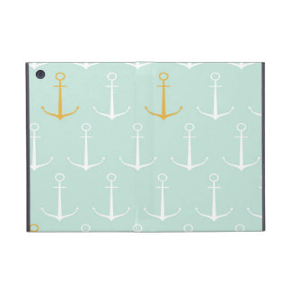 Nautical anchors preppy girly blue anchor pattern iPad mini case