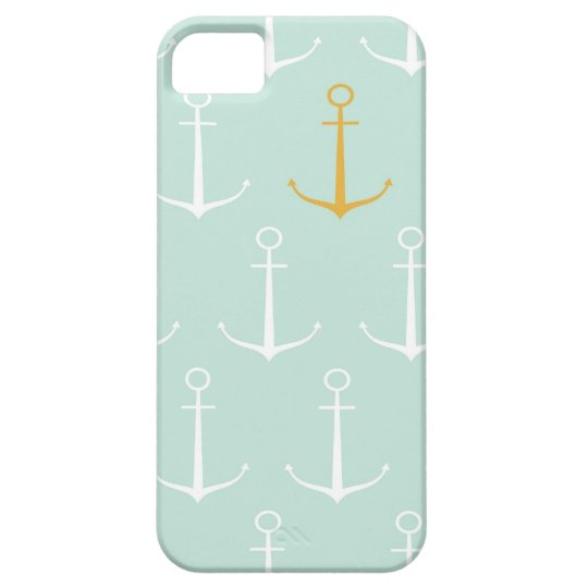 Nautical anchors preppy girly blue anchor pattern iPhone SE/5/5s case