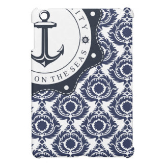 Nautical and blue and white Damascus reason, Case For The iPad Mini
