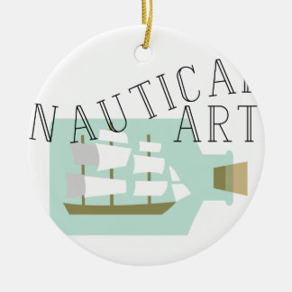 Nautical Art Ceramic Ornament