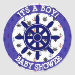 Nautical baby  blue Anchors and Wheel Stickers