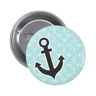 Nautical Baby Blue Circles Pinback Buttons