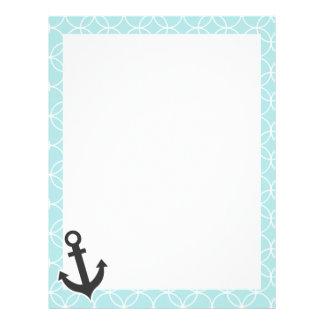 Nautical Baby Blue Circles Customized Letterhead
