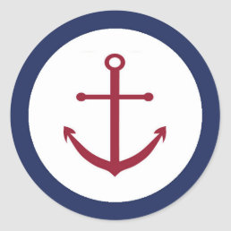 Nautical Baby Shower Anchor Envelope Seal