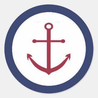 Nautical Baby Shower Anchor Envelope Seal