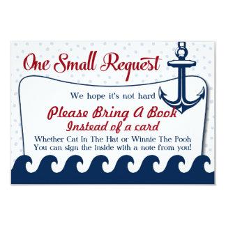 Nautical Baby Shower Book Card Please Bring A Book
