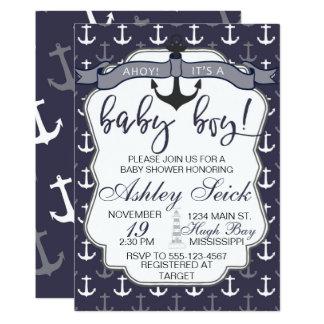 Nautical Baby Shower Boy Ahoy Its a Boy Invite