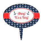 Nautical Baby Shower Cake Topper - Boy