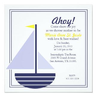 nautical BABY SHOWER custom invitation 2