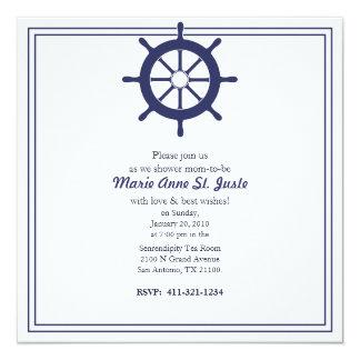 nautical BABY SHOWER custom invitation 5