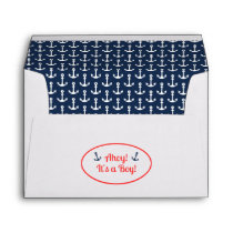 Nautical Baby Shower Envelope