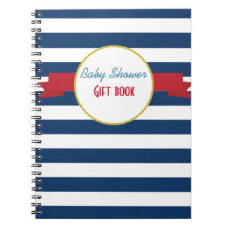 Nautical Baby Shower gift book. Notebook