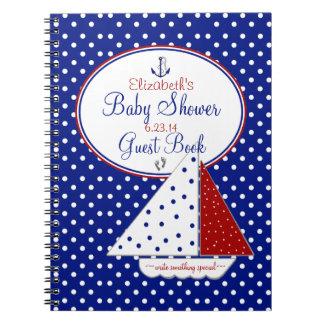 Nautical-Baby Shower Guest Book- Notebook