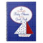 Nautical-Baby Shower Guest Book- Notebook