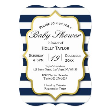 Beach Themed Nautical Baby Shower Invitation