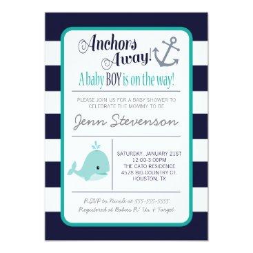 Invites2Adore Nautical Baby Shower Invitation