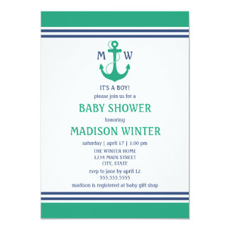 Nautical Baby Shower Card